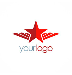 Star wing emblem logo vector