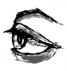 woodblock eye vector image