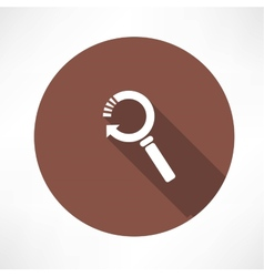 Refresh magnifier icon vector