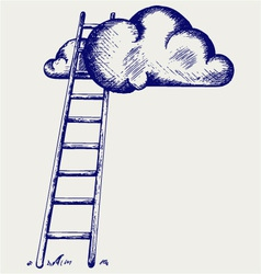 Ladder to clouds vector