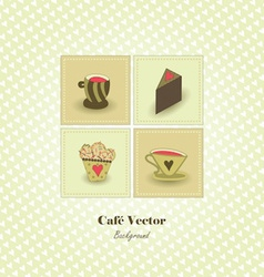 Cafe background vector