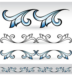 abstract form set vector image