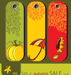 Nature autumn tags vector