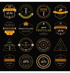 Badges and logos cycling vector