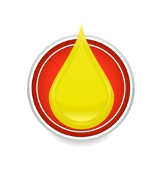 oil drop symbol vector image