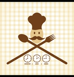 Breakfast lunch and dinner time menu card design vector