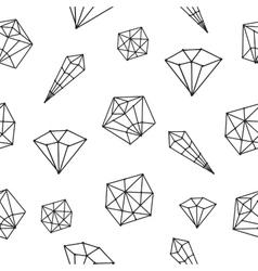 Seamless pattern crystal geometric vector image