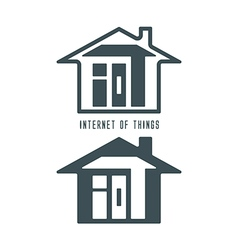 Iot house symbol vector