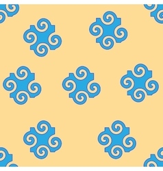 Spiral abstract blue seamless pattern vector
