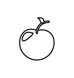 Apple fruit healthy outline vector