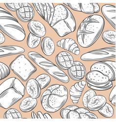Bakery decorative seamless pattern vector