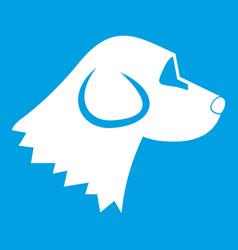 Beagle dog icon white vector