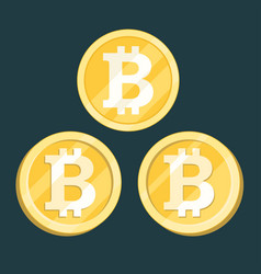 Bitcoin digital crypto currency sign vector