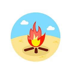 Bonfire icon Summer Vacation vector image vector image
