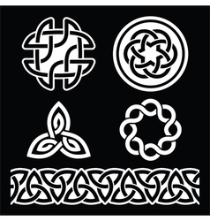 Celtic irish patterns and knots - st patri vector