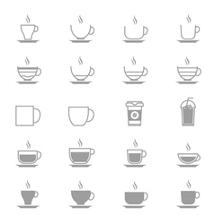 Coffee Cup Icons Line Set Of Design copy vector image vector image