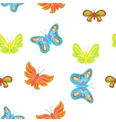 Creatures butterflies pattern cartoon style vector