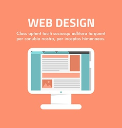 Flat design concept for web design for web vector image