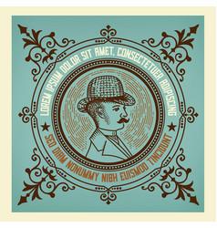 gentleman vintage label vector image