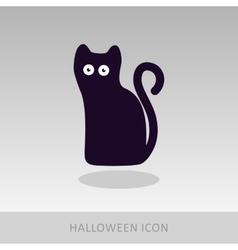 Halloween black cat icon vector image