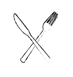 kitchen cutlery icons vector image vector image