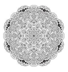 Mandala coloring eastern pattern zentangl round vector