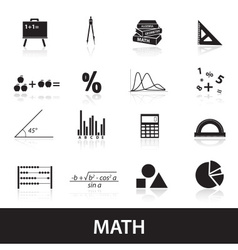 Mathematics icons set eps10 vector