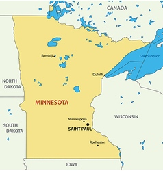 Minnesota - map vector image
