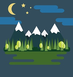 Mountain Landscape at Night vector image