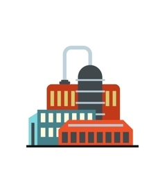 Oil refinery or chemical plant icon vector
