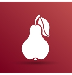Pear logo fruit diet leaf dieting health food vector