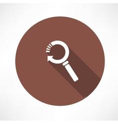 refresh magnifier icon vector image