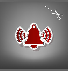 Ringing bell icon red icon with for vector