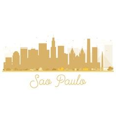 Sao Paulo City skyline golden silhouette vector image vector image