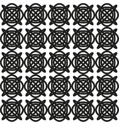 Seamless abstract geometric pattern with celtic vector