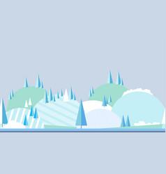 seamless horizontal winter landscape landscape in vector image