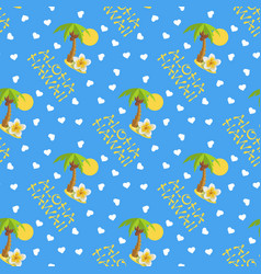Seamless pattern for hawaii vector