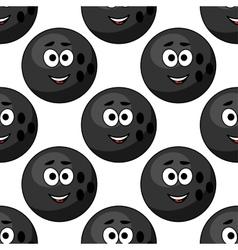 Seamless pattern of cartoon bowling balls vector image