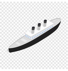 ship isometric icon vector image vector image