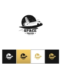 Shuttle logo or space travel icon vector image vector image