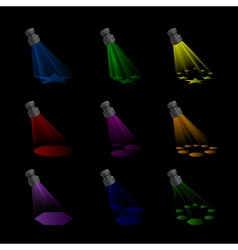 Spotlights with Rainbow Colours vector image vector image