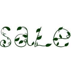 Spring sale text design template vector