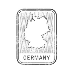 stamp with contour of map of germany vector image vector image