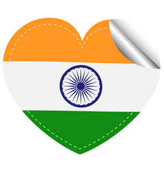 sticker design for india flag vector image vector image