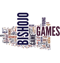 The appeal of bishojo games text background word vector