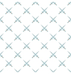 Two crossed swords pattern gray monochrome vector