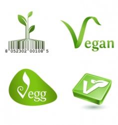 vegetarian symbols vector image vector image