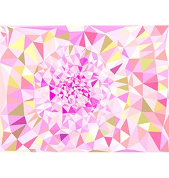 Vivid color polygonal background vector image vector image