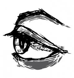 Woodblock eye vector