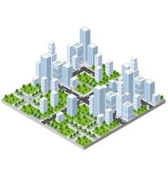 Isometric city landscape vector
